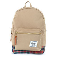Herschel Supply Khaki Tartan Settlement Backpack