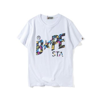 Couple Short Sleeve Summer Star T-shirts [10641292679]