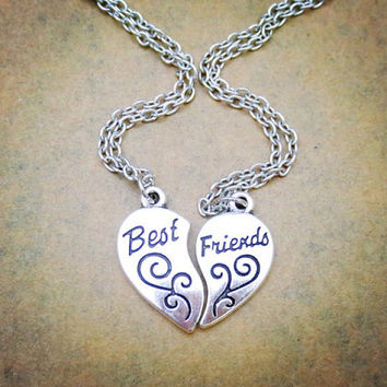 Beast Friends Heart Shaped Necklaces