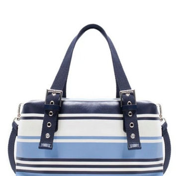 Trf Striped Bowling Shoulder Bag
