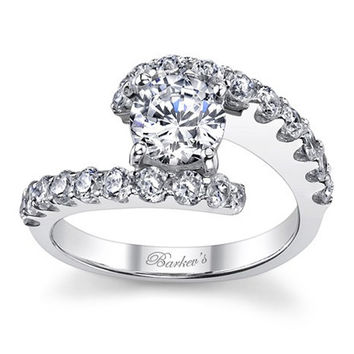 Barkev's Bypass Prong Set Diamond Engagement Ring