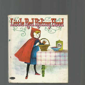 Little Red Riding Hood, Vintage Whitman Small Tell-A-Tale, Children's Book, 1964 Vintage Smaller Hardcover, Colorful Cute Illustrations