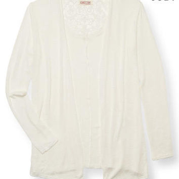 Cape Juby Lace Back Cardigan - Aeropostale
