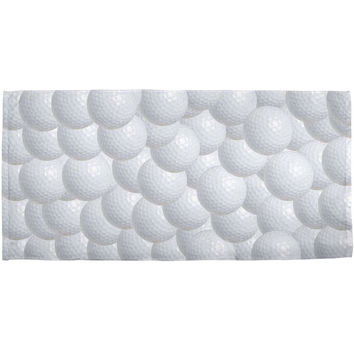 Father's Day - Golf Balls All Over All Over Bath Towel