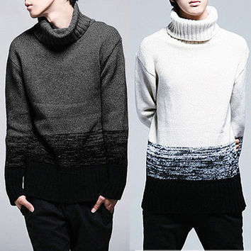 High Neck Warm Knit Sweater
