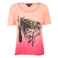 Rock & Roll Cowgirl Women's Free Fall Ombre Tee