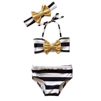Girl's 3 Piece Swimwear w/headband