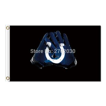 Indianapolis Colts Gloves Flag Black World Series Champions Football Team New Indianapolis Colts Glove Banner