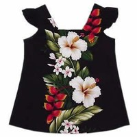 paradise black hawaiian girl dress
