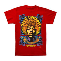 Jimi Hendrix Men's  5th Dimension T-shirt Red
