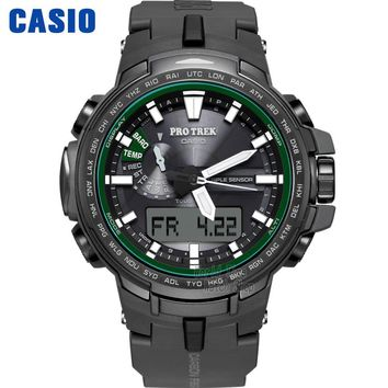 Casio watch Six Board radio solar energy multi - sensor waterproof climbing table PRW-S6100Y-1P