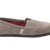 Brown Metallic Herringbone Women's Classics