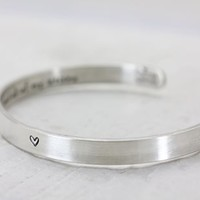Bracelets Stacking Cuffs / Handmade Sterling Silver / Engraved On The Inside