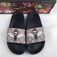 Gucci Fashion Women Sandal Slipper Shoes - Bee Print