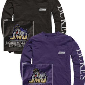 James Madison University Dukes Long Sleeve T-Shirt | James Madison University