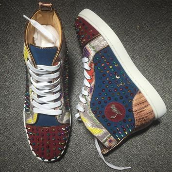 Cl Christian Louboutin Louis Spikes Style #1843 Sneakers Fashion Shoes