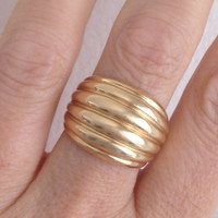 Chunky Gold Statement Ring (Small/Indie Brands)