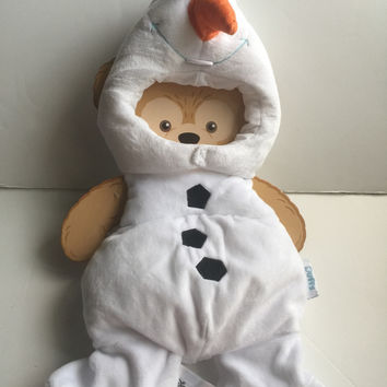 "disney parks frozen olaf costume outfit for 17"" duffy bear new"