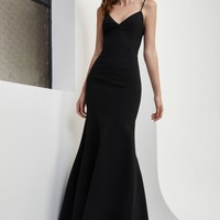C/MEO COLLECTIVE RIGHT NOW FULL LENGTH DRESS black