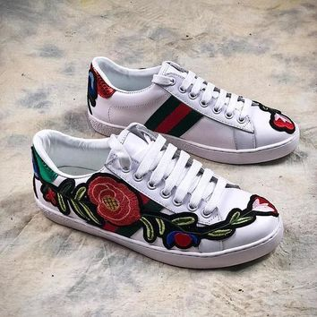 GUCCI Ace Embroidered Flower Low Top Sneaker #3 - Best Online Sale