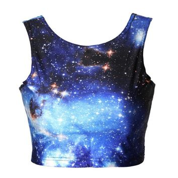 Summer Beach Bralette Comfortable Hot Stylish Sexy Galaxy S Print Vest [6049111489]