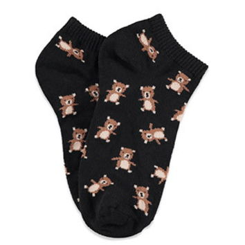Bear Pattern Ankle Socks