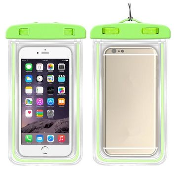 Waterproof Phone Pouch Fluorescent Underwater Phone Cover 6 Inch