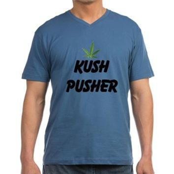 KUSH PUSHER Men's V-Neck T-Shirt> KUSH PUSHER> 420 Gear Stop