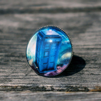 Doctor Who Tardis - adjustable ring