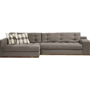 One Kings Lane - Lounge Around - Colton Left-Facing Sectional, Stone