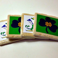 Notre Dame Tile Drink Coasters - Set of 4