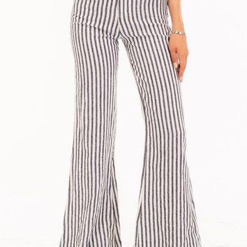 SAILOR GREY AND WHITE STRIPED PANTS