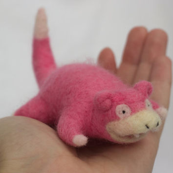 Slowpoke - Needle Felted Pokemon
