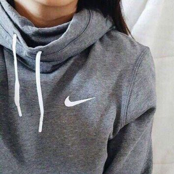 DCCKB62 NIKE' Women Fashion Hooded Top Sweatshirt Sweater Hoodie Pullover G