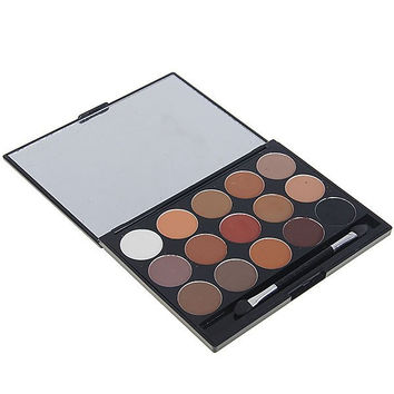 8815# 15 Colors Makeup Eyeshadow Cosmetic Set with Mirror and Brush