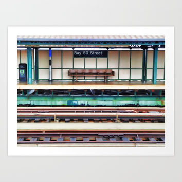 A platform bench Art Print by lanjee
