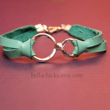 Infinity turquoise leather bracelet SALE