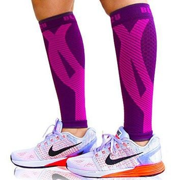 BLITZU Calf Compression Sleeve Socks One Pair Leg Performance Support Shin Splint amp Calf Pain Relief Men Women Runners Guards Sleeves Running Improves Circulation Recovery