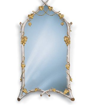 "22"" X 44.5"" Twig & Ivy Decorative Mirror with Twig Frame"