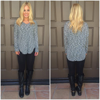 Tamara V-Neck Sweater - BLACK