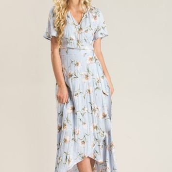 Demi Blue Floral Maxi Dress