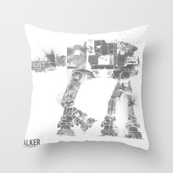 Star Wars Vehicle AT-AT Walker Throw Pillow by Nicholas Hyde