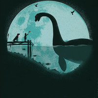 Encounter Under a Blue Moon Stretched Canvas by Jay Fleck
