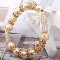 Bracelet Golden Diamond Line