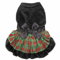 Zack and Zoey Radiant Tartan Velvet Dog Dress | BaxterBoo