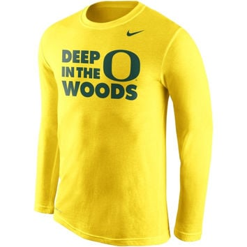 Nike Oregon Ducks Legends Long Sleeve Performance T-Shirt - Yellow