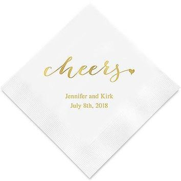 Cheers Printed Paper Napkins (Sets of 80-100)