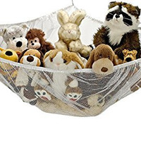 Jumbo Toy Hammock - Organize stuffed animals or children's toys with this mesh hammock. Looks great with any décor while neatly organizing kid's toys and stuffed animals. Expands to 5.5 feet.