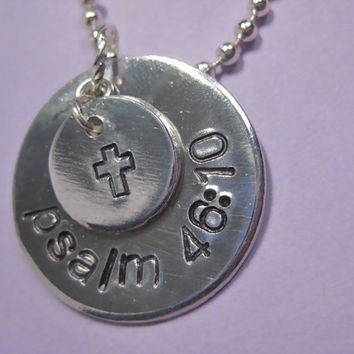Life Verse - Custom Hand-Stamped Personalized Necklace with your Personal Bible Verse