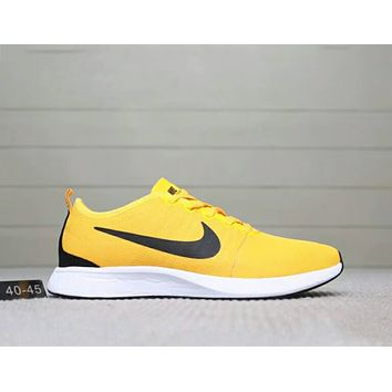 NIKE DUALTONE RACER comfortable and breathable running sports shoes F-A0-HXYDXPF yellow